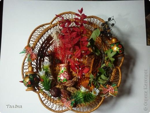 Картина панно рисунок Праздник осени Аппликация Для души - воспоминание об осени  Материал природный фото 5