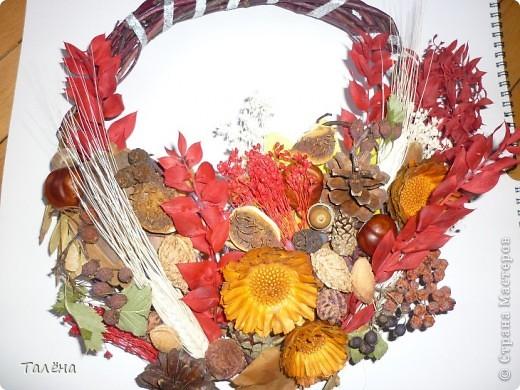 Картина панно рисунок Праздник осени Аппликация Для души - воспоминание об осени  Материал природный фото 8