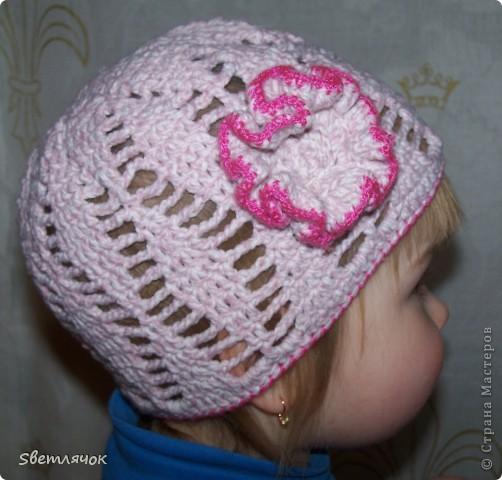 шапочка с цветочком фото 3