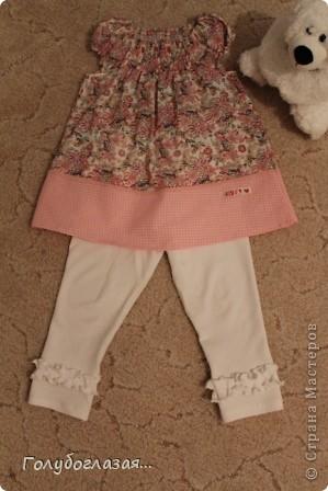 Я опять с обновками для доченьки в садик. Шила по журналу OTTOBRE. Ткань из  моих прошлогодних запасов- поплин, хлопок, интерлок.  фото 1