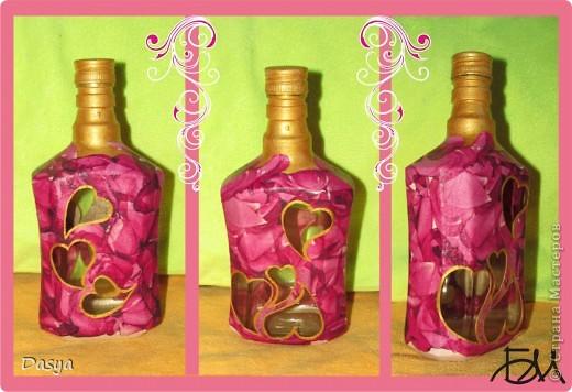Объемный декупаж бутылок своими руками как получить наросты 27