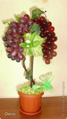 Добрый день СМ! вот сделала с огромным удовольствием и трепетом свой виноградик.... мыслила давно, не знала как.  Подсмотрела идею у Светочки на страничке   https://stranamasterov.ru/node/308706    , это то , о чем я мечтала.... Свет, огромное тебе спасибо!!! фото 1