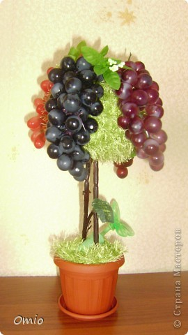 Добрый день СМ! вот сделала с огромным удовольствием и трепетом свой виноградик.... мыслила давно, не знала как.  Подсмотрела идею у Светочки на страничке   https://stranamasterov.ru/node/308706    , это то , о чем я мечтала.... Свет, огромное тебе спасибо!!! фото 2