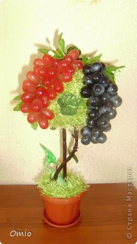 Добрый день СМ! вот сделала с огромным удовольствием и трепетом свой виноградик.... мыслила давно, не знала как.  Подсмотрела идею у Светочки на страничке   https://stranamasterov.ru/node/308706    , это то , о чем я мечтала.... Свет, огромное тебе спасибо!!! фото 3