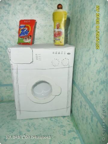 Здравствуйте всем читателям МС! Решила показать как я делала Стиральную машинку в ванную для куколки. фото 20