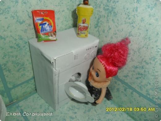 Здравствуйте всем читателям МС! Решила показать как я делала Стиральную машинку в ванную для куколки. фото 1