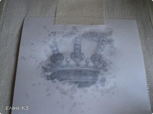 Декор предметов Мастер-класс Декупаж Перевод распечатки на ткань и дерево фото 10