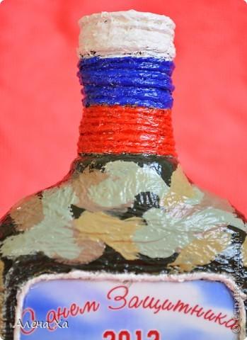 Добрый день, Страна Мастеров! Я с подарочками. Делала бутылку к празднику.  Вот такая она была сначала.  фото 5