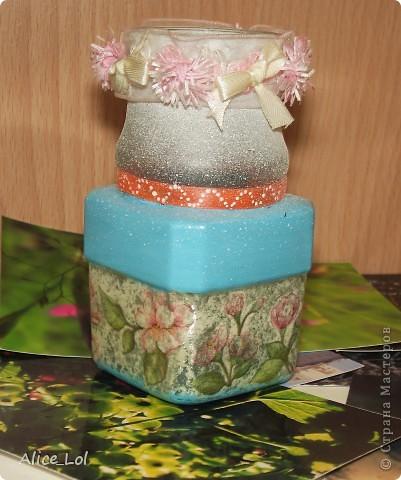 вот такая вазочка у меня получилась из банки от кофе. фото 2