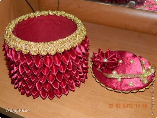 Декор предметов День рождения Цумами Канзаши Шкатулки зажимы и резинки Ленты фото 2