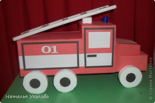Пожарная машина из картона своими руками схема