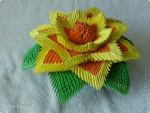 Модульное оригами схемы лилия
