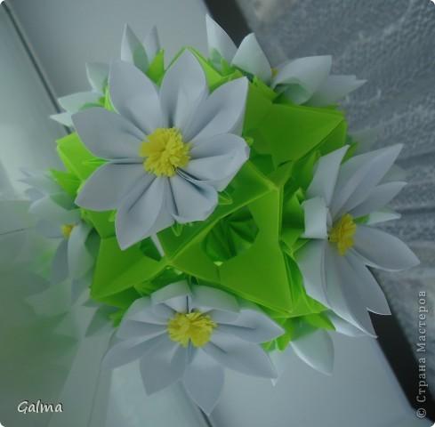 Оригами Кусудама Ромашки