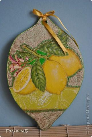 """Досочка """"Лимон"""" фото 1"""