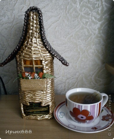 давно вынашивала идею сплести чайный домик ,и вот все случилось.... фото 3