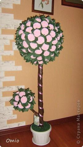 """Добрый день Страна! вот сколько не делаю топиарии, а вот от таких - салфеточных деревьев, восторга больше всего.... Мне сказали, что я ничего не понимаю.... ну да ладно, лишь бы оно радость приносило. Это дерево мне заказали кому-то на день рождения....Я уже делала подобное дерево его можно посмотреть тут   https://stranamasterov.ru/node/287110        , нужно было """"такое же"""". Ну вот готово... фото 1"""