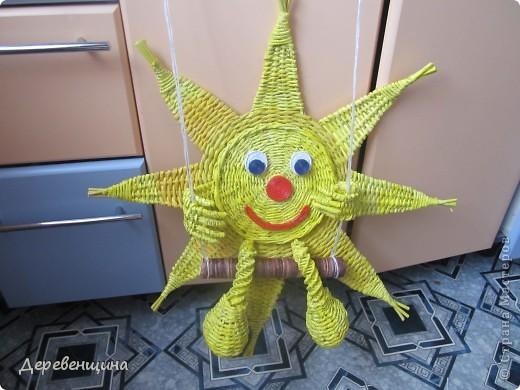 Мастер-класс Плетение Солнышко для садика Бумага газетная Трубочки бумажные фото 1