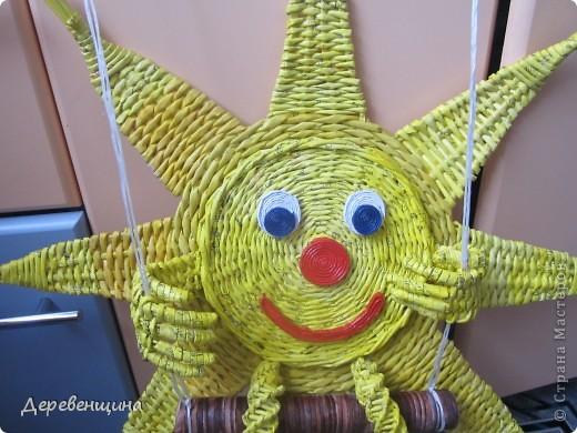 Мастер-класс Плетение Солнышко для садика Бумага газетная Трубочки бумажные фото 15