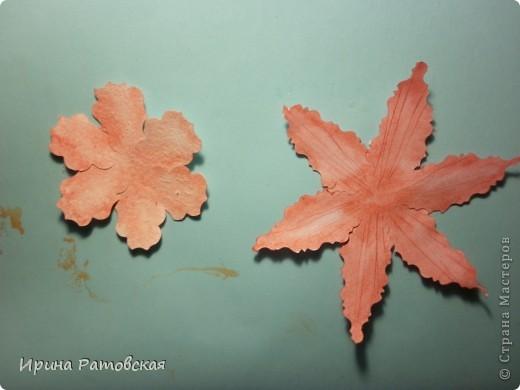 Цветочки бывают разные..... Хочу познакомить вас с результатом моего эксперимента по изготовлению цветочков с намеком на винтаж для разного использования. Можно в открытки, можно на оформление коробочек, поздравительных газет в школе и т д. фото 9