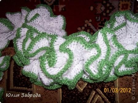 Эффектный шарфик для мамы фото 2