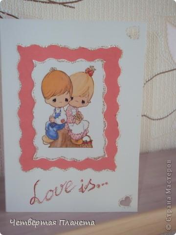 вот такие открытки делала на 14 февраля. фото 2