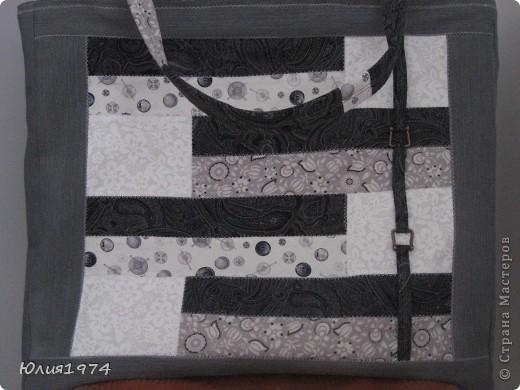 Готова сумка в серых тонах. фото 1