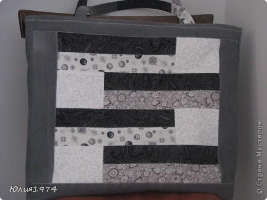 Готова сумка в серых тонах. фото 10