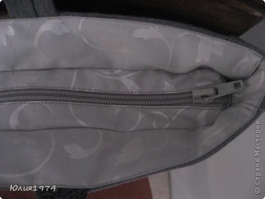 Готова сумка в серых тонах. фото 3