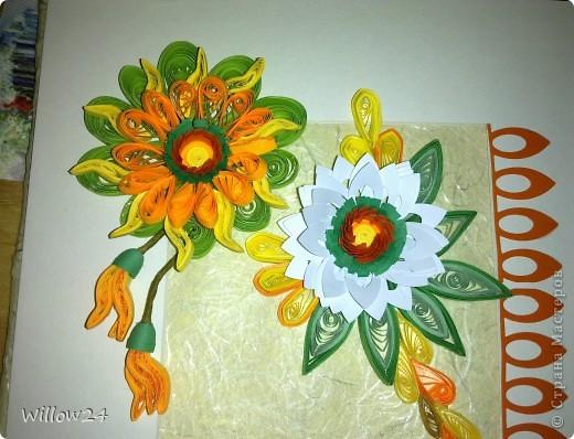 Цветы, которыми мы поздравим нашу бабушку. Сделалось на одном дыхании за пару часов. фото 1