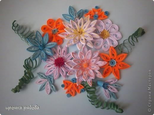 Мои первые квиллинг цветы!!! фото 1