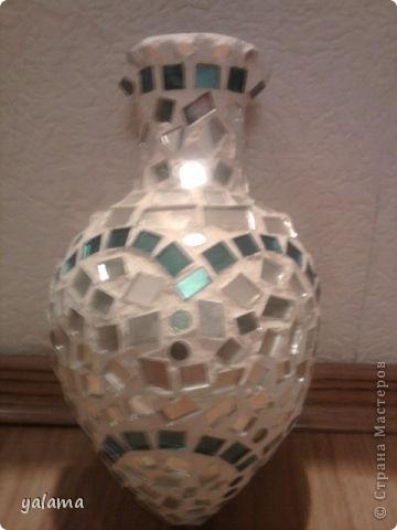 Здравствуйте дорогие поклонники сайта СМ. Хочу показать свою работу, которую я делала из квадратных кусочков зеркала. фото 1