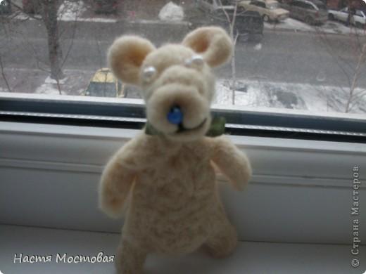 И свалялось это нечто...То ли медведь, то ли мышка, то ли пёсик...На любой вкус!:)Зовут - Гуфи...))) фото 2