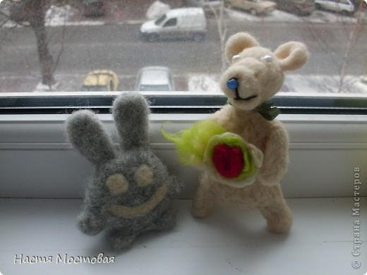 И свалялось это нечто...То ли медведь, то ли мышка, то ли пёсик...На любой вкус!:)Зовут - Гуфи...))) фото 4