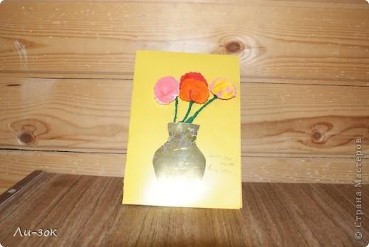 8 марта уже  не за горами и вот начала я готовиться сделала две  открыточки фото 3
