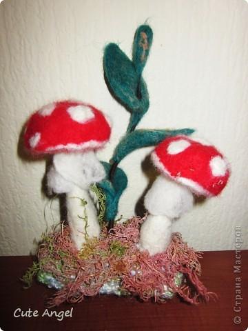Навалялись грибочки.Декор для подоконников.Классно смотрятся среди цветочных кашпо =) фото 3
