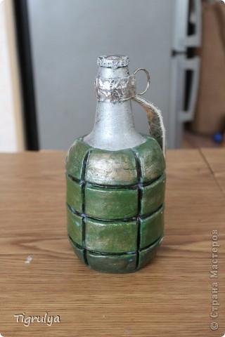 Вот такая Граната получилась в подарок мужу, она заряжена пивком фото 1