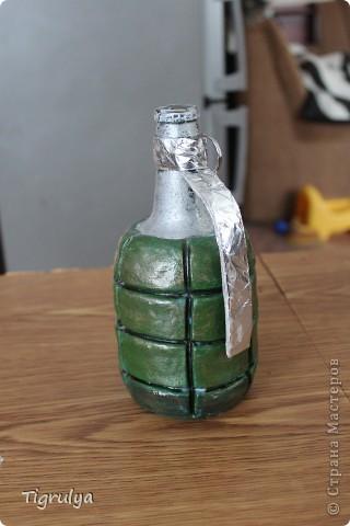 Вот такая Граната получилась в подарок мужу, она заряжена пивком фото 2