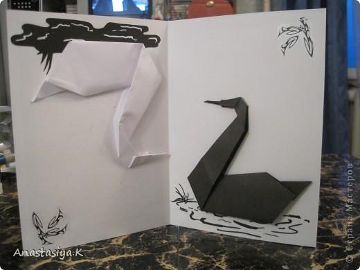 Одна сторона открытки - Белый лебедь фото 4