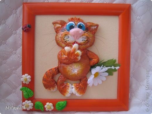 И третий котик с ромашкой фото 1