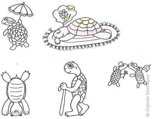 рисунки черепашек: