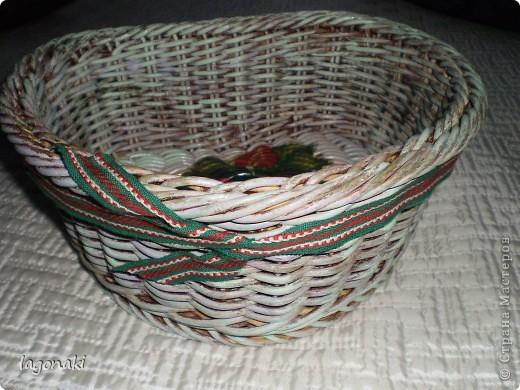 Вот оформила плетеночку(купила)Попробовала разными красками.Как-будто ее красили много раз,а затем она потерлась и стала проглядывать краска. фото 2