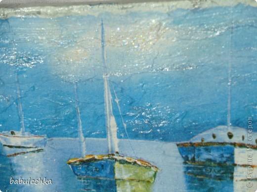 Панно натюрморт Анютины глазки и панно  морской пейзаж-На море штиль... фото 4