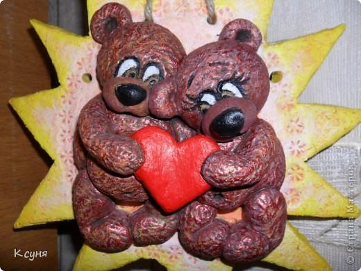С детства обожаю мишек,собираю плюшевых,теперь добавила в коллекцию и влюбленных мукасольных медвежонков..)) фото 2