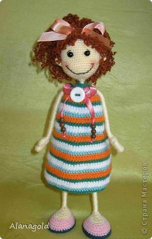 Вот такая куколка у меня получилась по мк Розетка  фото 1