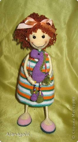 Вот такая куколка у меня получилась по мк Розетка  фото 3