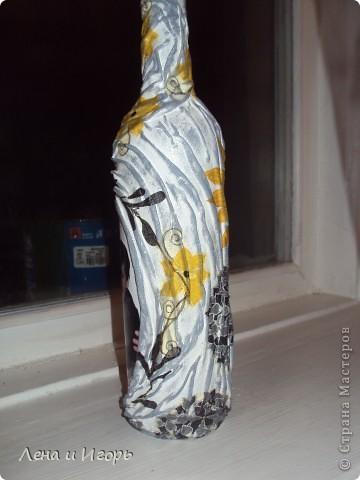 Декупаж бутылки с фото фото 2