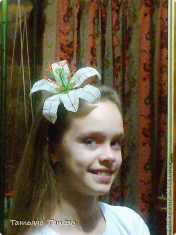 Лилия на обруче. Подарок для племянницы.