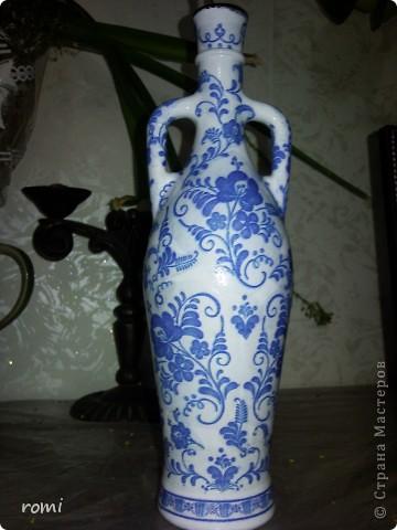 Моя первая декупажная вазочка. фото 2