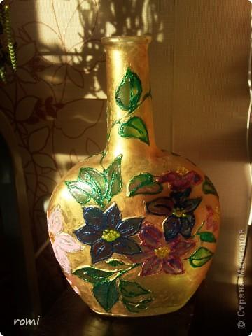 Моя первая декупажная вазочка. фото 3