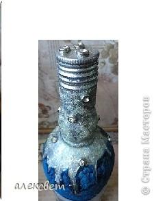 Использовала: картинка из журнала. цветной песок, блёстки, бусины и  лак.  фото 2